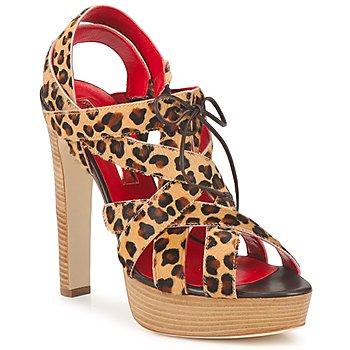 Schuhe Damen Sandalen / Sandaletten Rupert Sanderson BRISE Leopard