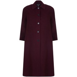 Kleidung Damen Mäntel David Barry Damen Einreiher Wolle und Kaschmir lange Wintermantel Rot