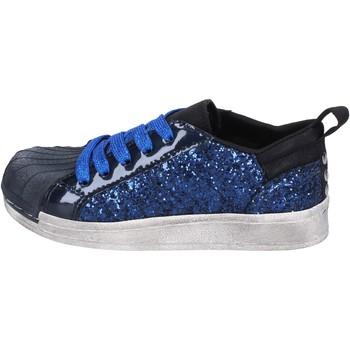 Schuhe Mädchen Sneaker Low Holalà mädchen  sneakers blue glitter lack BT330 blau