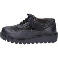 Schuhe Mädchen Derby-Schuhe Didiblu mädchen elegante schwarz leder strass BT344 schwarz