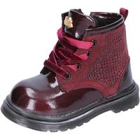 Schuhe Mädchen Klassische Stiefel Lulu mädchen stiefeletten burgund leder wildleder BT356 rot