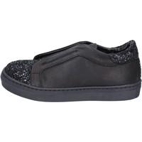 Schuhe Mädchen Slip on Holalà mädchen  sneakers schwarz leder glitter BT357 schwarz