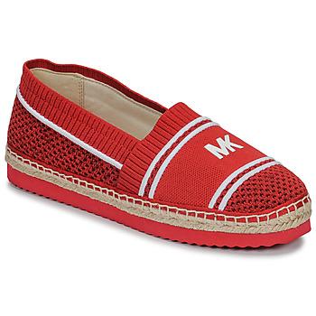 Schuhe Damen Leinen-Pantoletten mit gefloch MICHAEL Michael Kors RAYA Rot