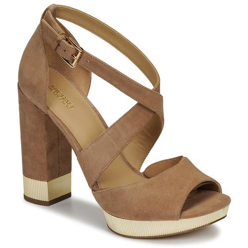 Schuhe Damen Sandalen / Sandaletten MICHAEL Michael Kors VALERIE PLATFORM Camel