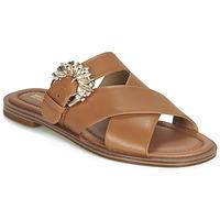Schuhe Damen Pantoffel MICHAEL Michael Kors FRIEDA SLIDE Braun