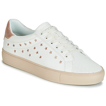 Schuhe Damen Sneaker Low Esprit Colette Star LU Weiss / Rose / Gold