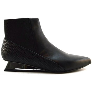 Schuhe Damen Low Boots United nude LEV Bootie Lo Black Multicolor