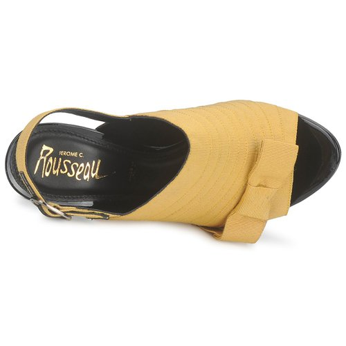 Jerome C. Schwarz Rousseau ROXY Gelb / Schwarz C.  Schuhe Sandalen / Sandaletten Damen 367,50 d74829