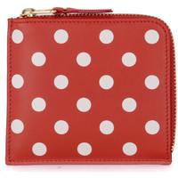 Taschen Damen Portemonnaie Comme Des Garcons Comme Des Garçons Portemonnaie Wallet rotes Leder mit Punkten Rot