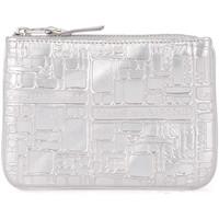 Taschen Damen Geldtasche / Handtasche Comme Des Garcons Comme des Garçons Etui Wallet in Leder mit Prägung Silber