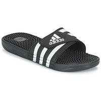 Schuhe Pantoletten adidas Originals ADISSAGE Schwarz / Weiss
