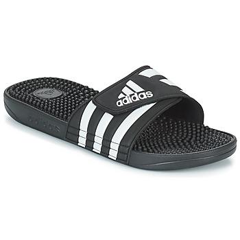 Schuhe Pantoletten adidas Performance ADISSAGE Schwarz / Weiss