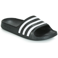 Schuhe Kinder Pantoletten adidas Originals ADILETTE AQUA K Schwarz / Weiss