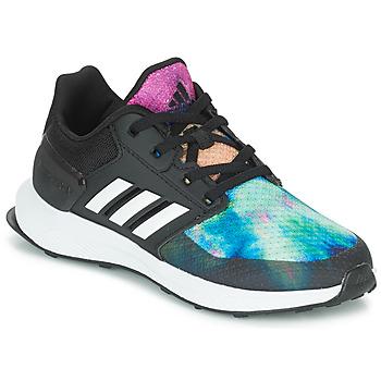 Schuhe Mädchen Laufschuhe adidas Performance RAPIDARUN X K Schwarz