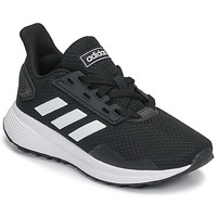 Schuhe Kinder Laufschuhe adidas Originals DURAMO 9 K Schwarz / Weiss