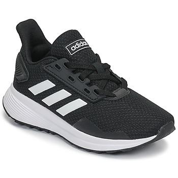 Schuhe Kinder Laufschuhe adidas Performance DURAMO 9 K Schwarz / Weiss