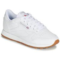 Schuhe Damen Sneaker Low Reebok Classic CL LTHR Weiss