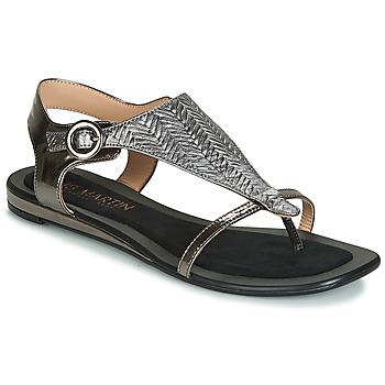 Schuhe Damen Sandalen / Sandaletten JB Martin ARMOR Schwarz / Silbern