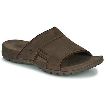 Schuhe Herren Pantoffel Merrell SANDSPUR LEE SLIDE Braun