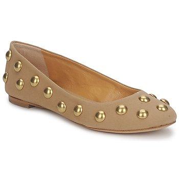 Schuhe Damen Ballerinas Keyté CANDY TESSU Beige