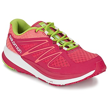 Schuhe Damen Laufschuhe Salomon SENSE PULSE WOMAN Rose / Orange / Grün