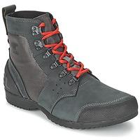 Schuhe Herren Boots Sorel ANKENY MID HIKER RIPSTOP Schwarz / Grau