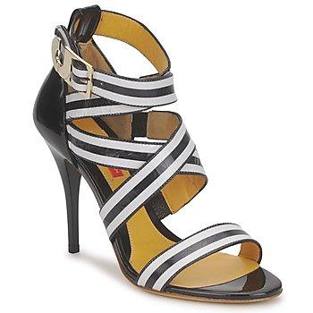Schuhe Damen Sandalen / Sandaletten Charles Jourdan BARBARA Schwarz / Weiss