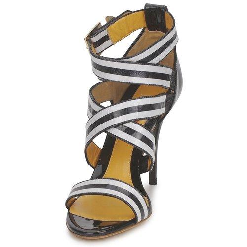 Charles Jourdan BARBARA Schwarz / Weiss  Schuhe / Sandalen / Schuhe Sandaletten Damen 197,50 0b056c