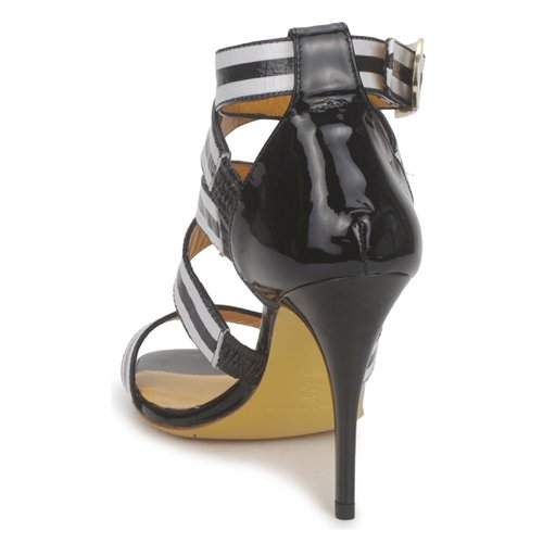 Charles Jourdan BARBARA Schwarz / Weiss Schuhe Sandalen / Sandaletten Damen 197,50