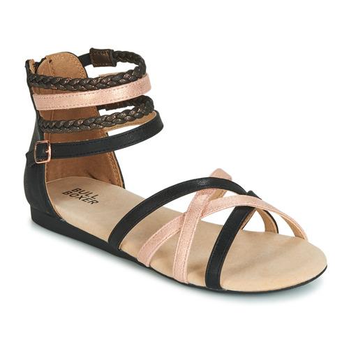 Schuhe Mädchen Sandalen / Sandaletten Bullboxer AED009 Schwarz