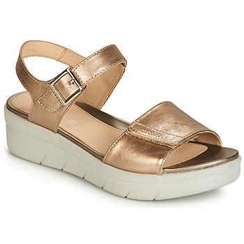 Schuhe Damen Sandalen / Sandaletten Stonefly AQUA III 2 LAMINATED Gold