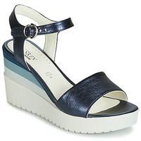 Schuhe Damen Sandalen / Sandaletten Stonefly ELY 7 LAMINATED LTH Blau