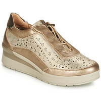 Schuhe Damen Sneaker Low Stonefly CREAM 15 LAMINATED LTH Gold