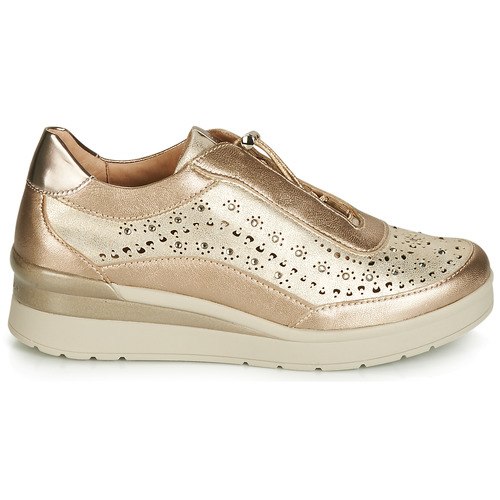 Stonefly CREAM 15 LAMINATED LTH Gold    Schuhe Sneaker Low Damen 2af81e