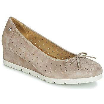 Schuhe Damen Ballerinas Stonefly MILLY 2 GOAT SUEDE Beige