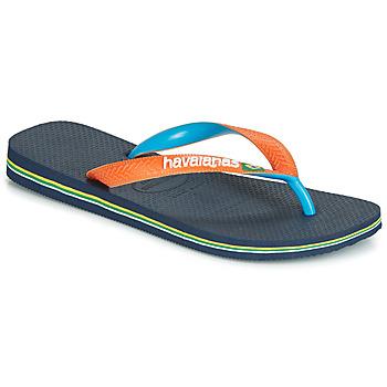 Schuhe Zehensandalen Havaianas BRASIL MIX Marine / Orange