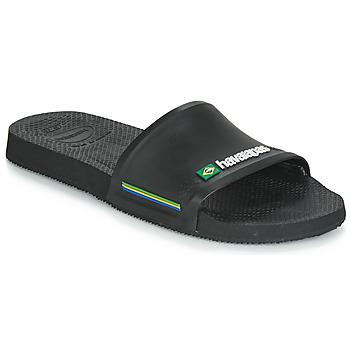 Schuhe Herren Pantoletten Havaianas SLIDE BRASIL Schwarz