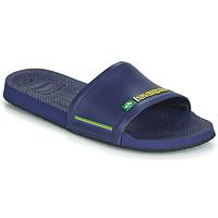Schuhe Pantoletten Havaianas SLIDE BRASIL Blau