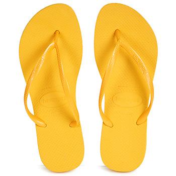 Schuhe Damen Zehensandalen Havaianas SLIM Gelb