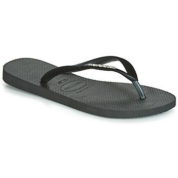 Schuhe Damen Zehensandalen Havaianas SLIM VELVET Schwarz