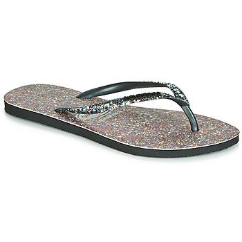 Schuhe Damen Zehensandalen Havaianas SLIM CARNAVAL Schwarz