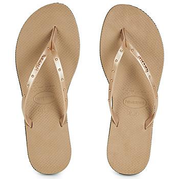 Schuhe Damen Zehensandalen Havaianas YOU MAXI Rose / Gold