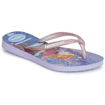Schuhe Mädchen Zehensandalen Havaianas KIDS SLIM FROZEN Violett