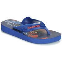 Schuhe Jungen Zehensandalen Havaianas KIDS MAX HEROIS Blau