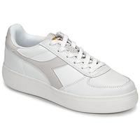 Schuhe Damen Sneaker Low Diadora B ELITE WIDE Weiss / Maulwurf