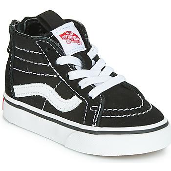 Schuhe Kinder Sneaker High Vans SK8-HI ZIP Schwarz / Weiss