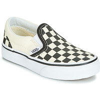 Schuhe Kinder Slip on Vans CLASSIC SLIP-ON Schwarz / Weiss