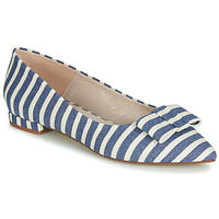 Schuhe Damen Ballerinas Fericelli JILONOU Blau / Weiss
