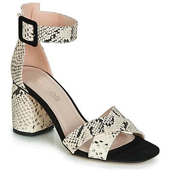 Schuhe Damen Sandalen / Sandaletten Fericelli JEZI Weiss / Schwarz