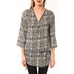 Kleidung Damen Kleider De Fil En Aiguille Robe Noémie & Co E1485-13 Noir/Blanc Schwarz